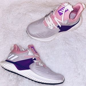 Pink & Purple Adidas AlphaBounce Sneakers 💕